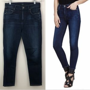 COH Rocket Crop High Rise Skinny Jeans Dark Wash
